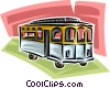 streetcar Vector Clipart graphic