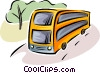 Vector Clipart graphic  of a busses