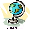 world globe Vector Clip Art graphic