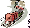 train cars Vector Clipart illustration