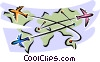 airplanes traveling to different destinations Vector Clip Art picture