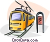 Vector Clipart illustration  of a streetcars