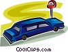 Vector Clipart graphic  of a limousine
