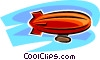 Vector Clip Art image  of a blimp