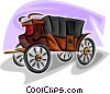Vector Clip Art image  of a vintage carriage