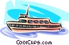 tour boat Vector Clipart illustration