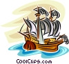 Tall ship Vector Clip Art image