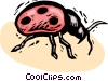 Vector Clipart illustration  of a beetle