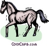 Horses Vector Clipart graphic