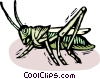 Grasshoppers Vector Clipart graphic
