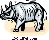 Vector Clipart picture  of a Rhinoceros