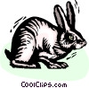 Rabbits Vector Clipart graphic