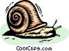 Vector Clip Art graphic  of a Snails