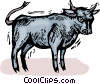 Bulls Vector Clipart graphic