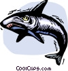 Vector Clipart picture  of a Sharks