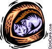 Vector Clip Art picture  of a Cats
