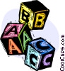 Vector Clipart graphic  of a building blocks