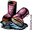 Vector Clip Art graphic  of a rubber boots