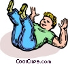 Vector Clipart image  of a boy playing