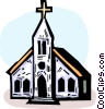 Vector Clipart picture  of a Churches
