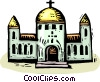 Vector Clipart illustration  of a Churches