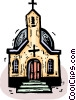 Churches Vector Clipart illustration