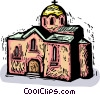 Vector Clipart image  of a Churches
