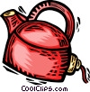 Vector Clip Art graphic  of a Kettles