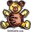 Vector Clip Art image  of a stuffed animal