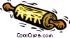 Vector Clip Art image  of a rolling pin