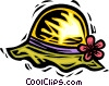 summer hat Vector Clipart graphic