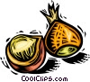 Vector Clip Art picture  of an acorns