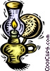 Oil Lamps Vector Clipart illustration