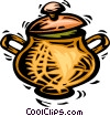 Vector Clip Art picture  of a pot