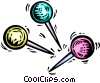 Vector Clipart graphic  of a pushpins