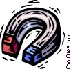 Vector Clipart graphic  of a magnet