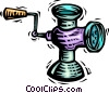 Vector Clipart illustration  of a Meat Grinders