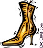 ladies boot Vector Clip Art image
