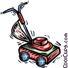 Vector Clipart image  of a Lawnmowers