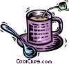 Vector Clip Art image  of a Teacups