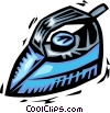 Vector Clipart illustration  of a Irons Ironing