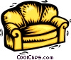 Vector Clip Art graphic  of a chesterfield