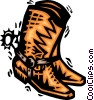 Vector Clipart graphic  of a Cowboy Boots