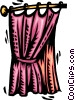 Vector Clip Art graphic  of a Curtains