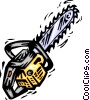 Vector Clip Art graphic  of a Chainsaws