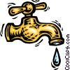 Vector Clipart graphic  of a Faucets