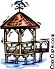 Gazebos Vector Clipart graphic