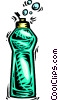 Vector Clip Art graphic  of a dish soap