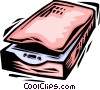 Vector Clipart graphic  of a Flatbed Scanners