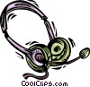 Headsets Vector Clipart image